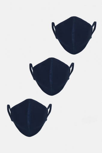 3-Pack Mundbind Navy
