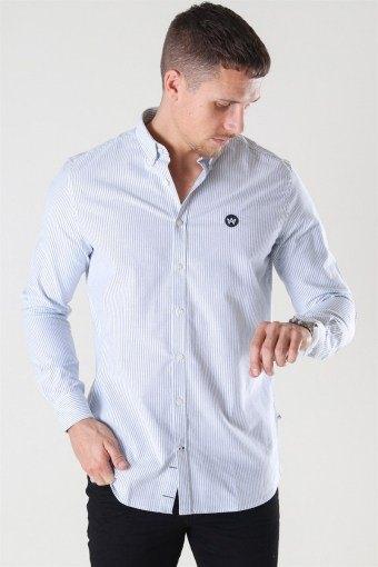 Johan Oxford Stripe Skjorte White / Light Blue