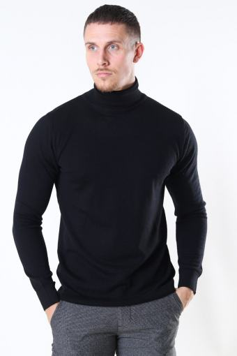 Merino Wool Roll Strik Black