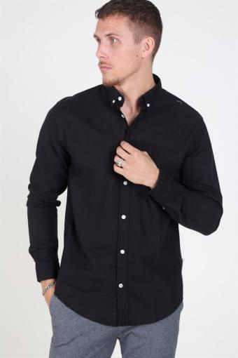Johan Oxford Washed Skjorte Black