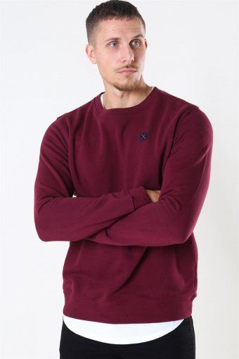 Basic Organic Crewneck Wine