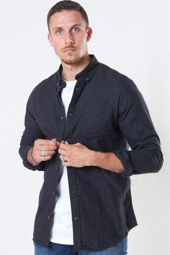 Jack & Jones Classic Melange Skjorte Dark Grey Melange