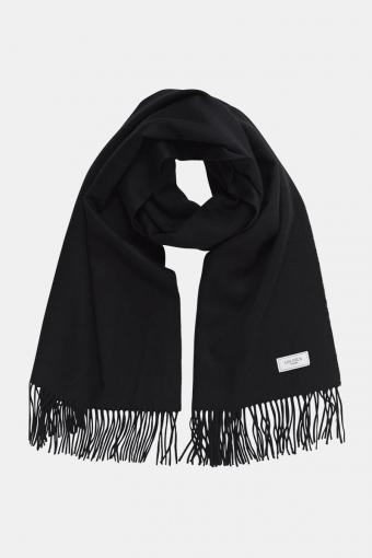 Solid Wool Halstørklæde Black
