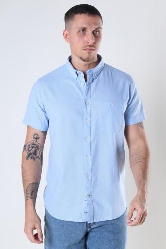 Johan Linen S/S shirt Light Blue