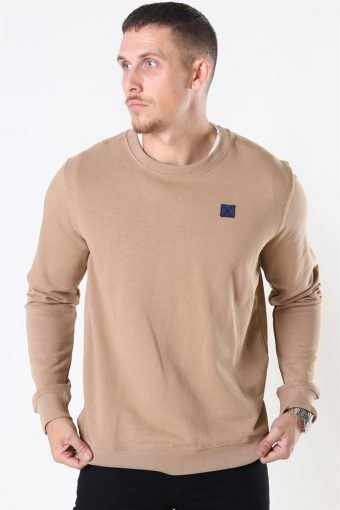 Basic Organic Crewneck Warm Sand