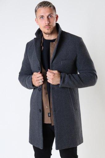 ONSJAYLON WOOL COAT OTW Dark Grey Melange