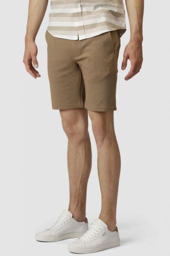 Clean Cut Milano Jersey Shorts Dark Camel Melange