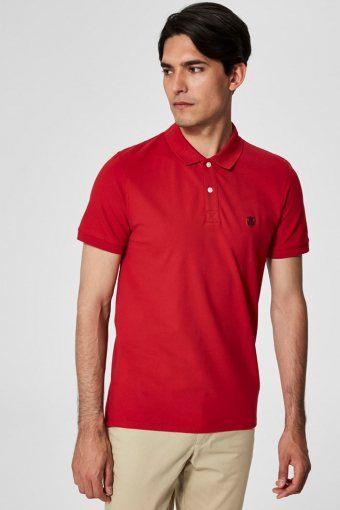 Aro S/S Emroidery Polo Skjorte Noos Scarlet Sage