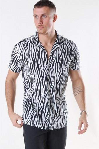 Animal Viskose Skjorte S/S White