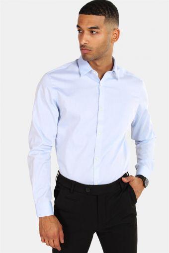 Non Iron Skjorte L/S Cashmere Blue