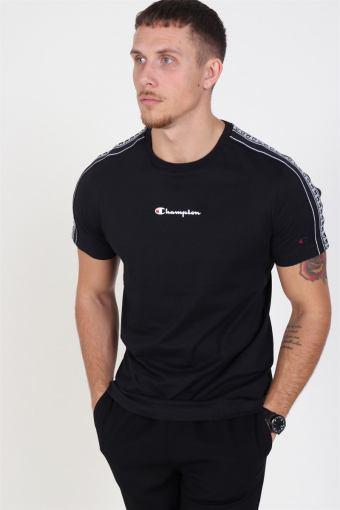 Stripe C Logo Crewneck T-shirt Black