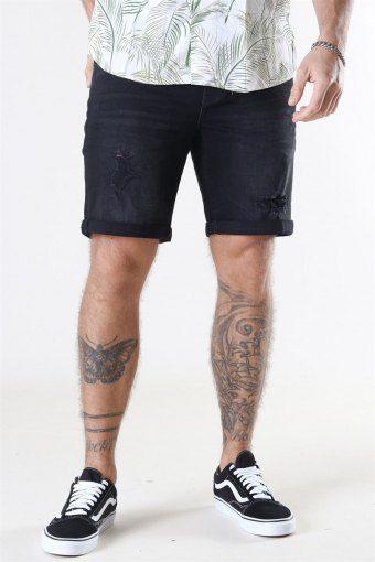 LT Ryder Destroy Shorts Black Denim