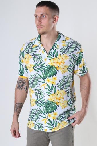 Cuba Tropical S/S shirt Yellow