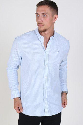 Oxford Stripe Skjorte Light Blue