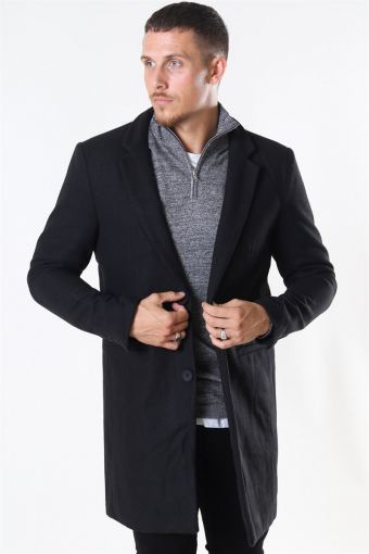 Maximus Wool Frakke Black