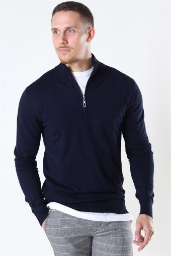 Argento Half Zip Strik Navy