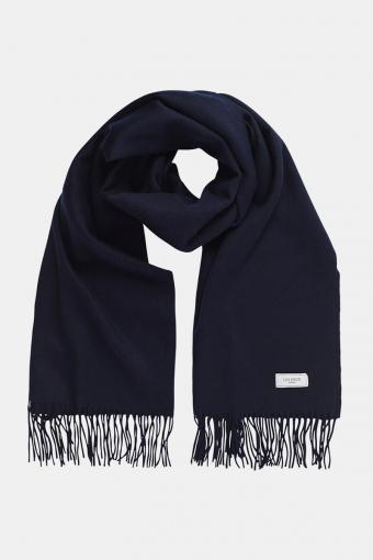 Solid Wool Tørklæde Dark Navy