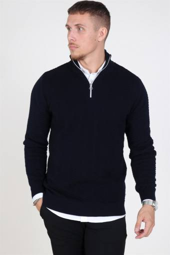 Carlo Half Zip Strik Navy