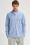 Selected SLHREGRICK-OX FLEX SHIRT LS S NOOS Dark Navy Stripes