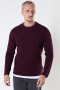 ONLY & SONS ONSPANTER LIFE 12 STRUC CREW KNIT NOOS Winetasting