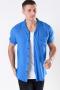 Only & Sons Silo Solid Viskose Skjorte S/S Baleine Blue