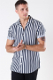 Only & Sons Wayne Striped Viscose Skjorte Dress Blues