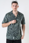 ONLY & SONS ONSZEBRA LIFE SS AOP REG SHIRT Hedge Green