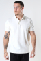 Clean Cut Copenhagen Silkeborg Stretch Polo Ecru