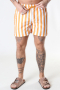 Clean Cut Copenhagen Swim Shorts Pale Orange Striped