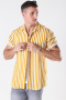 Only & Sons Wayne Striped Viscose Skjorte Golden Spice