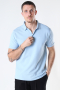 Clean Cut Copenhagen Silkeborg Stretch Polo Light Blue