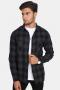URBAN CLASSICS Checked Flanell Shirt Black/Charcoal