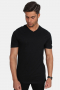 Basic Brand Uni Fashion V T-shirt Black