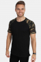 TB639 Raglan Contrast T-shirt Blk/woodcamo