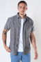 Selected SLHREGNEW-LINEN SHIRT SS CLASSIC W Black Olive