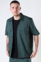 ONLY & SONS ONSNOAR COMPACT SS TC TWILL OVERSHIRT Jungle Green