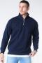 Basic Brand Quarter Zip Sweat Blue Navy