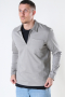 Jack & Jones JPRBLAPETROL SWEAT HALF ZIP Elephant Skin REG FIT