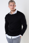 ONLY & SONS ONSWYLER LIFE LS CREW KNIT NOOS Black