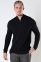 ONLY & SONS ONSWEB LIFE STRUCTURE HALF ZIP KNIT Black