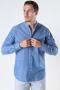 Selected SLHREGNEW-LINEN SHIRT LS CHINA W Medium Blue Denim