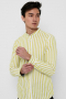 ONLY & SONS ONSMATTHEW LIFELS STRIPE MANDARINE SHIRT Antique Moss