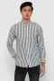 ONLY & SONS ONSMATTHEW LIFELS STRIPE MANDARINE SHIRT Dark Navy